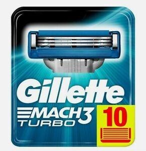 Gillette mach3 turbo 3d , lame di ricambio 10 pezzi. Originale. Nuove. Rasoio