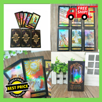 78 Set Cards Holographic Glowing Shining Tarrot Tarot Future Telling Trick Deck
