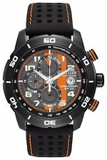 Citizen Eco-Drive Men's CA0467-11H Chronograph Black/Orange Dial 45mm Watch