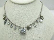 "Vintage Aeropostale Charm Necklace, 19"" Rhinestones, stars, key and more"
