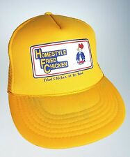 Homestyle Fried Chicken Trucker Mesh Back Plastic Snap Cap Yellow Hat