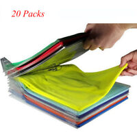 Lot 10/20/30 Packs EZSTAX Clothes Organizer System Closet Drawer Desk Cabinet
