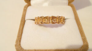 14K ROSE GOLD BAND MENS WEDDING RING RUSSIAN HALLMARK SIZE 11, 5.7mm, 4.7 grams