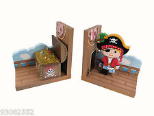 Pirate Bookends by Fantasy Fields Teamson - for Nursery or Kids room decor