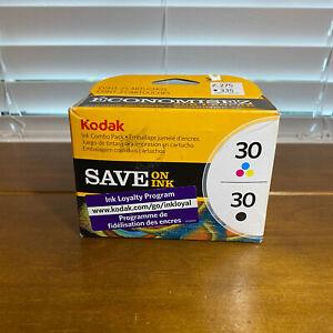 New Genuine OEM Kodak 30B & 30C Black & Color Ink Cartridge Combo Kit Set