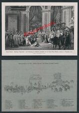 Louis David Napoleone I Imperatore Josephine incoronazione nobiltà STEMMA Notre DAME Parigi 1804