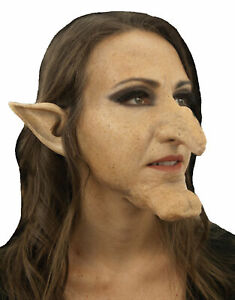 WITCH HAZEL HUGE LARGE NOSE & CHIN PROSTHETIC KIT COSTUME CSWO650