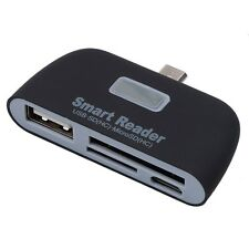 4in1 OTG/TF/SD Smart Card Reader Adapter with Micro USB Charge Port For Phone PC