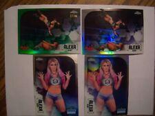 ALEXA BLISS  2020 TOPPS CHROME WWE LOT 4 GREEN PAR.SER. #27/99,IMAGE,REFRACTOR,B