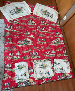 Vintage Joe Boxer Western Cowboy Horses Covered Wagon Twin Comforter Blanket Set