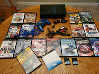 Playstation 2 PS2 Fat Console Bundle Lot 16 Games Memory Cards Tested Works
