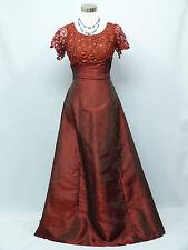 Cherlone Red Lace Ballgown Wedding/Evening Bridesmaid Formal Full Length Dress 8