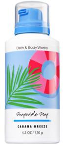 Discontinued! Bath & Body Works CABANA BREEZE Fun Shapeable Foam Soap Blue NEW