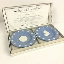 Wedgewood Jasperware State Seal Series 4th set in series, New York & Livingstone