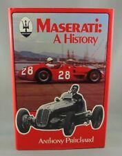 MASERATI A HISTORY (1976) 1st US Edition - by Anthony Pritchard (VG+/VG+) hc/dj