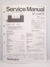 Technics Original Service Manual + Supplement Page ST-CH510 Tuner