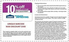 Lowe's 10 Coupon