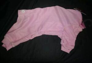 "New Petrageous Pet Pink Longjohn Pajamas Medium: 14-17""L; 22"" Girth; 20-35lbs E4"