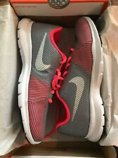 New Womens Nike Flex Bijoux Sneakers Gray/Pink Size 6.5M