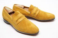 Deadstock VTG French Shriner Urner Mens Loafers 9 D Honey Suede Butterfly Shoes