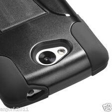 LG Optimus F60 Tribute Transpyre Hybrid T-Stand Case Skin Cover LS660 Black