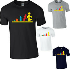 Evolution Of Lego T-Shirt Funny Robot Birthday Present Gift Adult Kids Tee Top