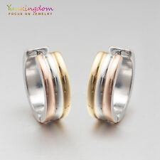 Fashion Silver Gold Color White Gold Plated Lady Ear Jewelry Hoop Earrings
