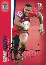 ✺Signed✺ 2017 QUEENSLAND REDS Rugby Union Card SAMU KEREVI