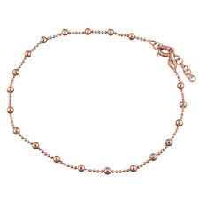 925 Sterling Silber Rose Gold Fußkette
