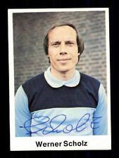 Werner Scholz VFL Bochum Bergmann Sammelbild 1976-77 Original Sign+ A 116131