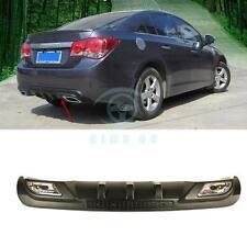 For Chevrolet Cruze 08-14 Rear Bumper Diffuser Lip Spoiler Double Exhaust Black