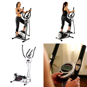 Magnetic Elliptical Machine Cross Trainer w/ 8 Level Resistance Digital Monitor