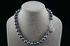 """Dr. Pearl 18"""" 12-13 mm Peacock Baroque Freshwater Pearl Necklace with ornament"""