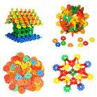 128Pcs Multicolor Baby Kids Creative Snowflake Building Blocks Educational Toys