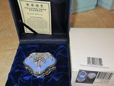 Halcyon Days Jeweled Trinket Enamel Snuff box Nib