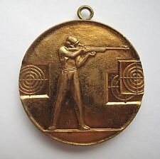 Russian Soviet Gold Medal Plaque rifle shooter International Competition 1979