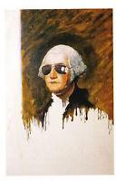 Mr Brainwash George Washington 1st show RARE promo banksy shepard fairey quotes