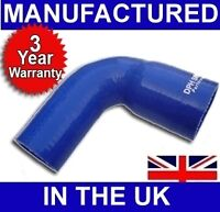 41mm to 38mm SILICONE 90 REDUCER ELBOW HOSE BLUE UK