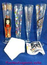 4 Ritzenhoff Gläser - 2 x Bierglas, 2 x Champusglas + orig. Champus Serviette