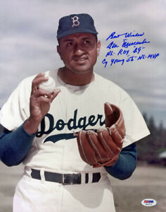 Don Newcombe SIGNED 11x14 Photo + Cy Young Brooklyn Dodgers PSA/DNA AUTOGRAPHED