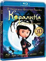 Coraline (Blu-ray 3D+2D, 2011) Eng,Russian,Polish,Portuguese,Spanish