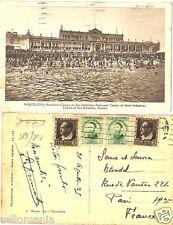 ANTIGUA POSTAL BARCELONA BALNEARIO CASINO SAN SEBASTIAN CIRCULADA 1935   CC00234