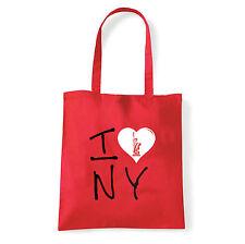 Art T-shirt, Borsa shoulder I Love NY, Rossa, Shopper, Mare