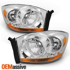 Fit 2006 2007 2008 Dodge Ram 1500 2500 3500 Replacement Headlights Left+Right