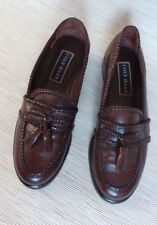 Cole Haan Womens 7.5 B   Brown Leather w/ Tassels Slip On Loafers Shoes