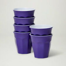 Barel Designs Classic Violet Melamine Tumblers 260mL - Set of 6 Picnic Cups