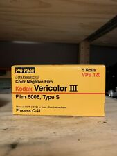 Kodak Vericolor III C41 6006 Type S - 120 Film - Expired 1985 5 Roll Pro Pack