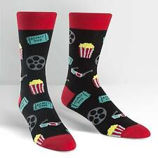 Sock It To Me Men's Crew Socks - Movie Night