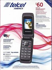 NEW Motorola MotoGo W419G Tracfone Telcel America PREPAID Flip Cell Phone BLACK