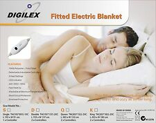 Digilex Washable Single Size Fitted Polyester Electric Blanket With Controller